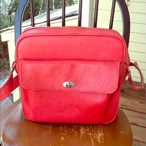 ☂︎VTG☂︎ Coral Samsonite Silhouette Travel Bag